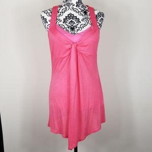 Women's Medium Pink Sleveless Tunic